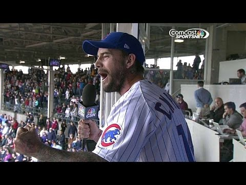 CM Punk sings 'Take Me Out to the Ballgame' at Wrigley Field