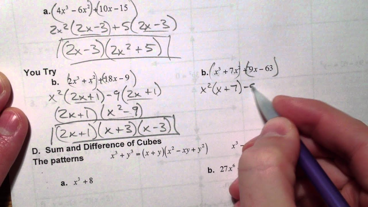 Factor and Solve Polynomial Equations 1 of 2 YouTube – Polynomial Equations Worksheet