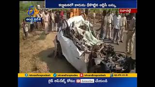 Four Killed | as RTC Bus Hits Car | at Karnataka's Savadatti
