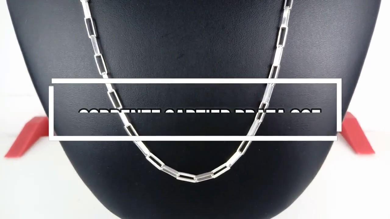 64a8fd64d2a Corrente Cordão Cartier Prata 925 Masculina 70 Cm 4mm - YouTube