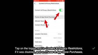How to enable in-app purchases - iPhone, iPad, iPod touch