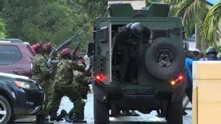 Armed forces at scene of Nairobi hotel blast