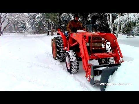 Kubota Snowplow - Wranglerstar from YouTube · Duration:  7 minutes 13 seconds