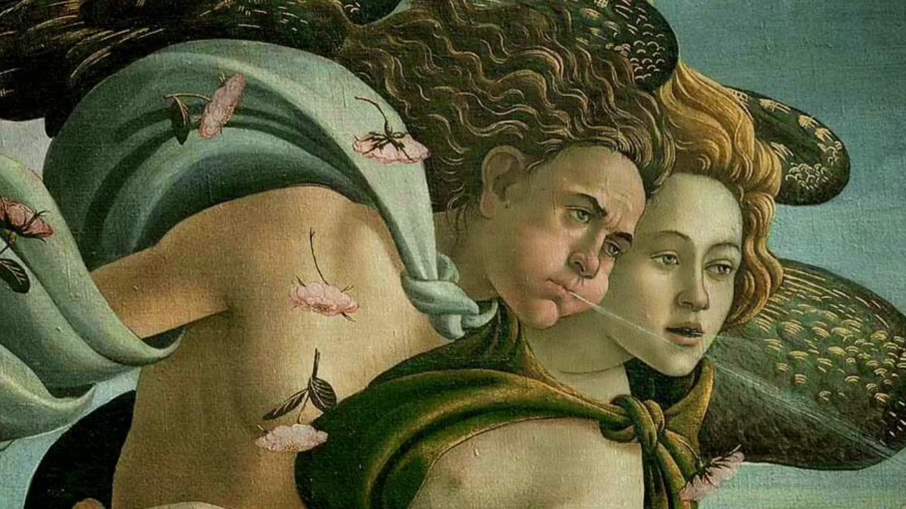 El Nacimiento De Venus Dibujo