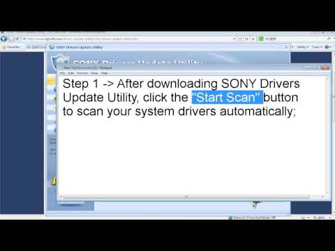 How To Download And Update Sony Drivers Automatically