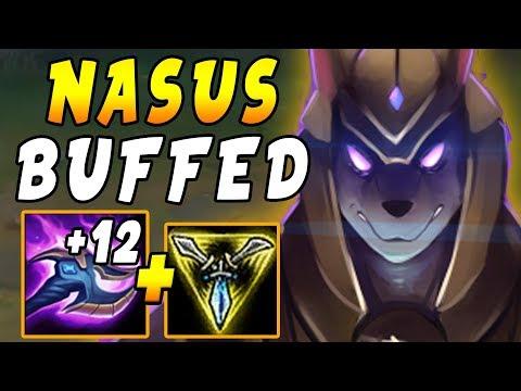 BUFFED Nasus TOP NOW with PLUS +12 Per Q = BIG Q Stacks | Ranked Solo Queue
