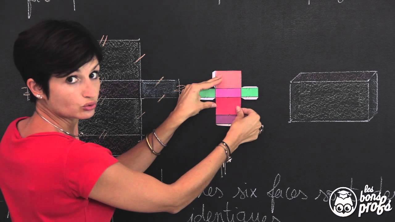 Patron du pav droit solides de l 39 espace maths 6e les bons profs youtube - Les sinsin de l espace ...