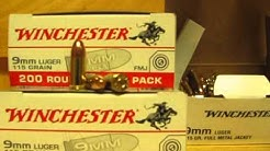 9mm Luger 115 Grain FMJ Target Range Bulk Ammo for Sale by Winchester - USA9W at SGAmmo.com