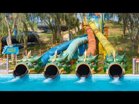 Dreamland Aqua Park - Twisting Dragons | Twister Racer Water Slide Onride POV