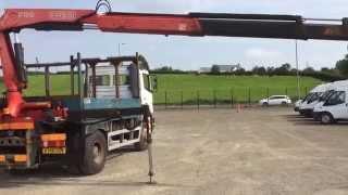 mercedes atego 1823 4 wheel drive 18 ton dropside lorry 6 speed c w fassi f150 crane jacklegs
