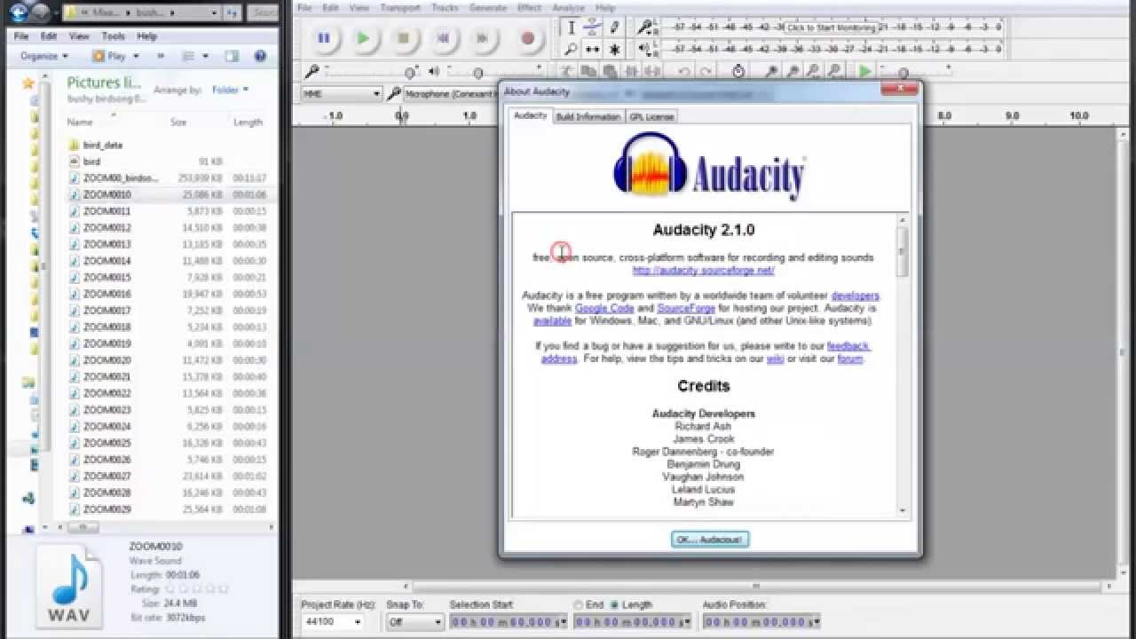 how to align tracks in audacity