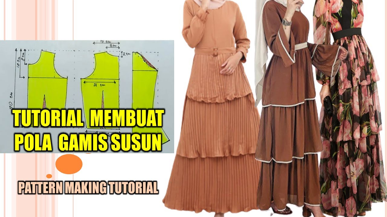 PECAH POLA GAMIS LENGAN REMPEL ~ PATTERN MAKING TUTORIAL - YouTube