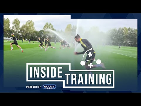 Keep ball, cycling, soaked by the sprinklers! | Inside Training
