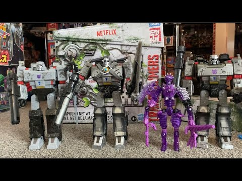 Netflix Transformers Spoiler Pack Megatron and Skelivore Unboxing Review by Toys Are Russ