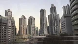 Burj Khalifa from Dubai Metro | Dubai Skyline
