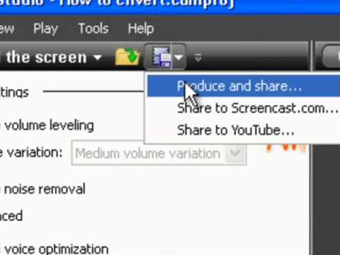 How To CONVERT Camtasia Videos To MP3, WMV, ADOBE FLASH ETC.