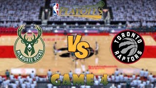Milwaukee Bucks vs. Toronto Raptors - Game 4 - Conf. Finals - NBA Playoffs! - NBA 2K19 Video