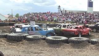 2017 Bottineau county fair demo derby 3rd heat