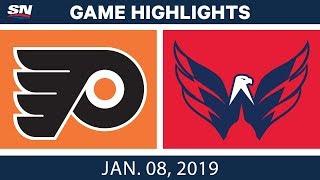 NHL Highlights   Flyers vs. Capitals - Jan. 8, 2019