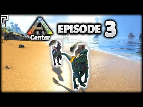 Taming A RAPTOR Couple! STOMPING On Dinos! | ARK Survival Evolved: The Center | Episode 3