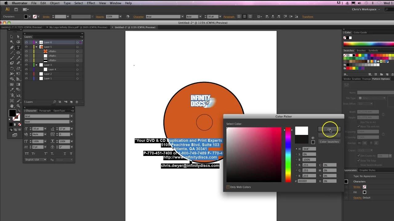 adobe illustrator creating a cd label youtube. Black Bedroom Furniture Sets. Home Design Ideas