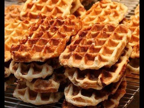 """Delicious Belgian Waffles Recipe"" ""Ben & Jerry's Chocolate Ice Cream"" ""Belgian Recipes"" [ASMR]"