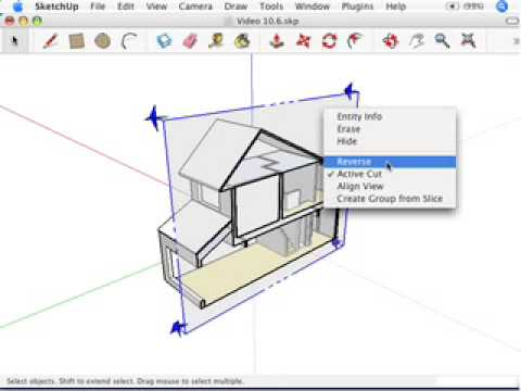Sketchup cutting plans and sections youtube for Google sketchup converter
