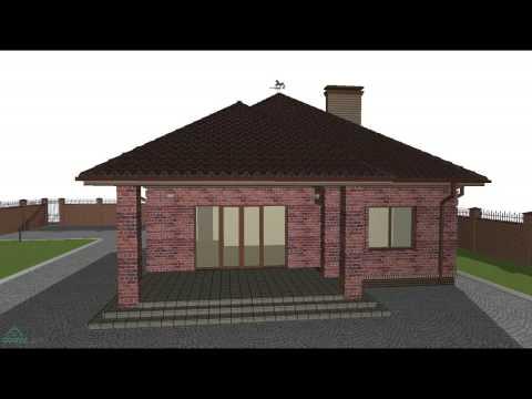 Проект одноэтажного жилого дома с удобной планировкой  B-067-ТП