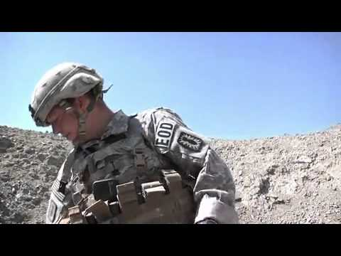 U.S. Army Explosive Ordnance Disposal Team Operating In Khowst, Afghanistan