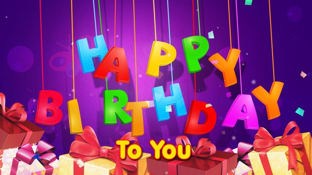 Happy Birthday Song English Frensh Arabic Spanish Sanaela Youtube
