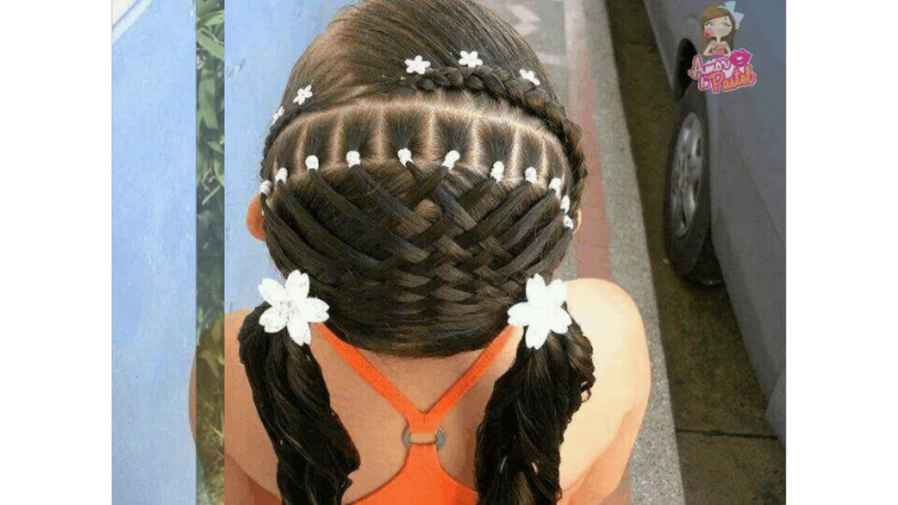 Easy hair styles for kids (fashion party wear) - YouTube