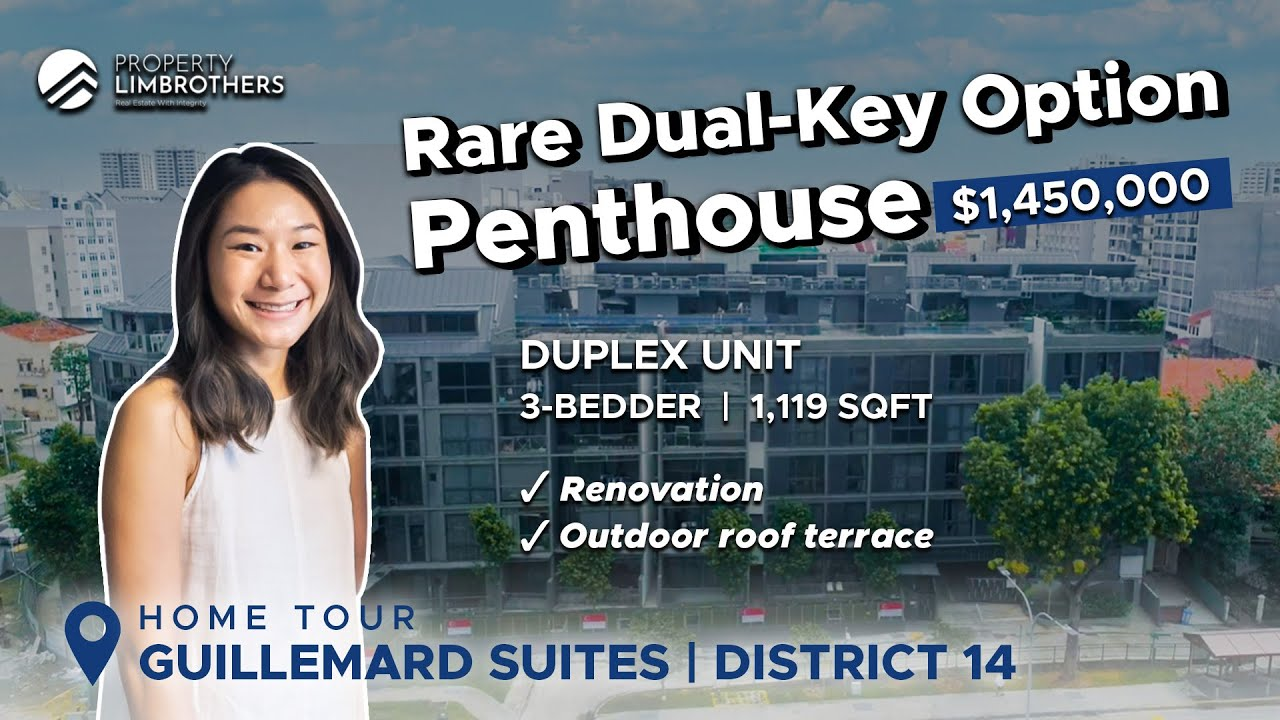 Guillemard Suites : Freehold Renovated 3 Bedroom Duplex Penthouse in District 14 ($1.45M, Home Tour)
