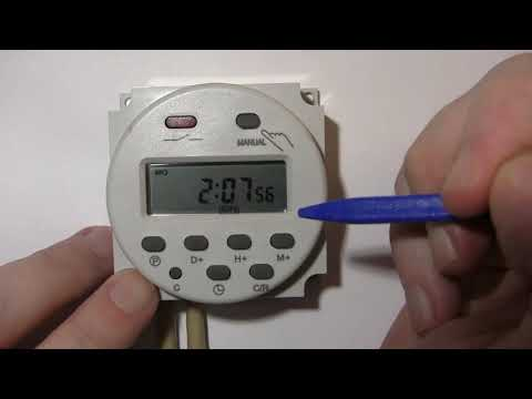 Обзор электронного таймера Cn101A. Инструкция, подключение, настройка.Electronic Timer Cn101a Review