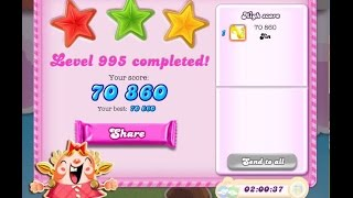 Candy Crush Saga Level 995    ★★★   NO BOOSTER