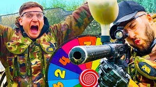 INSANE PAINTBALL ROULETTE CHALLENGE!!