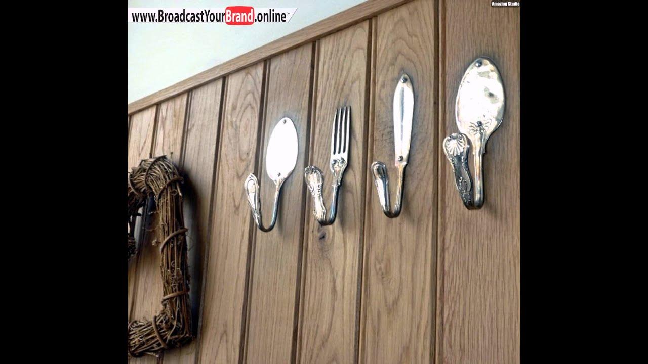 Wandgestaltung Küche Altes Besteck Haken Verwenden