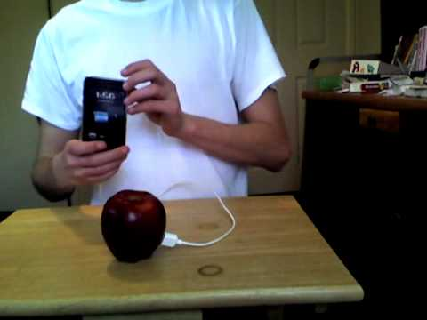 how to charge your iphone without a charger how to charge your ipod with an apple fruit 20765