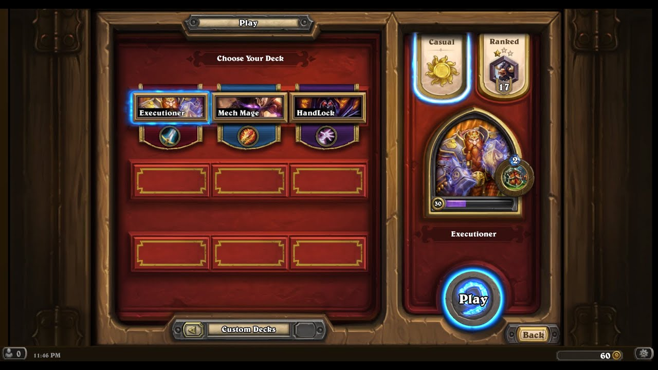 how to make a warrior deck in hearthstone