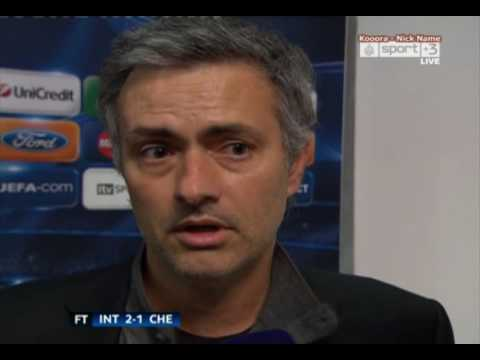 Inter Vs Chelsea (2-1) Jose Mourinho reaction - Champions league |HQ| 24.02.10