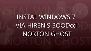 CARA INSTALL WINDOWS TERCEPAT || hirens boot cd with norton ghost