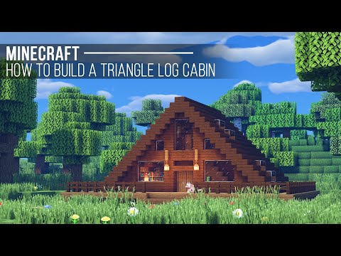 Easy Minecraft Triangle Cabin Tutorial How To Build A House In Minecraft 24 Youtube