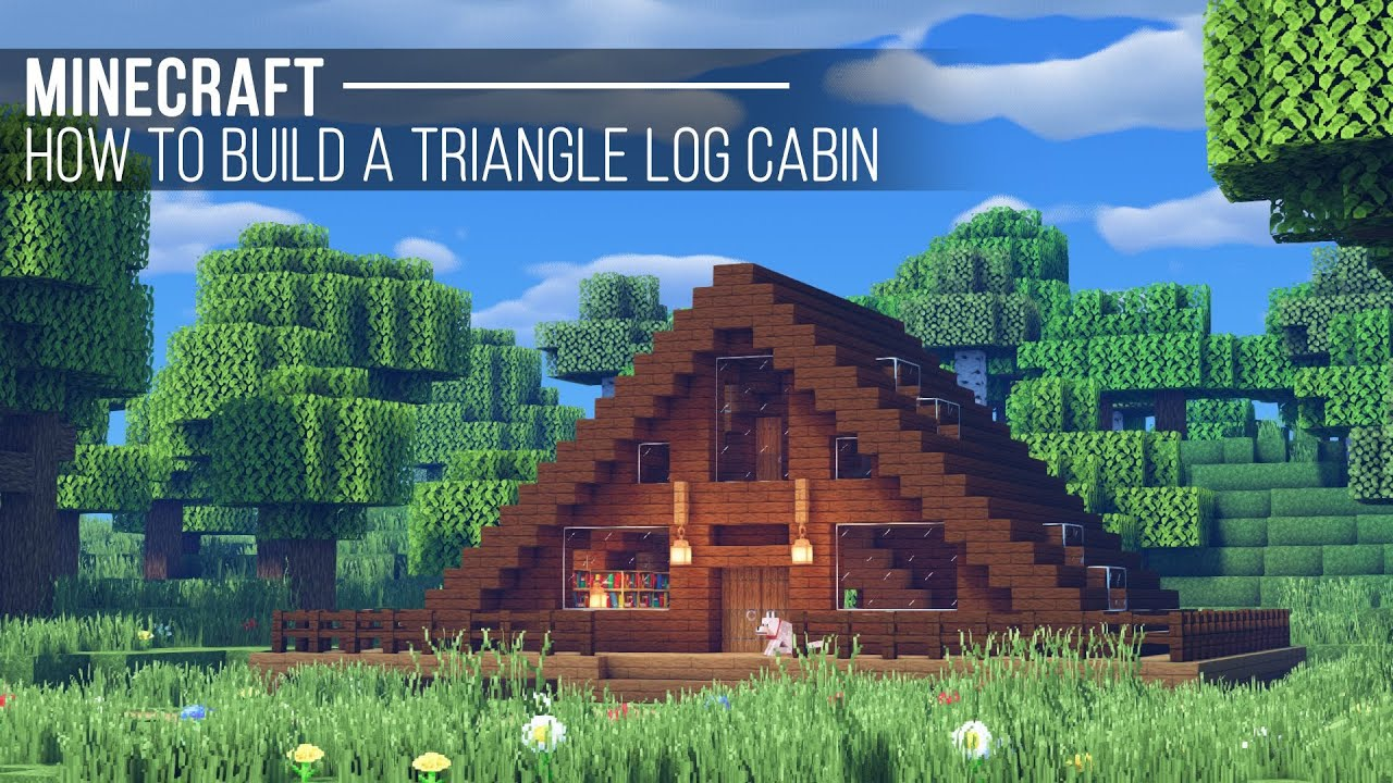 Triangle Cabin House Minecraft Map