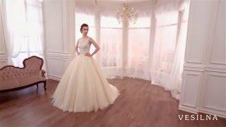 Пышное свадебное платье цвета капучино от VESILNA™ модель 3008