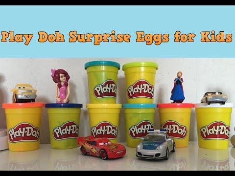 Play Doh Surprise Egg Toys | Kids Toys Inside Playdough Eggs
