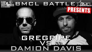 BMCL RAP BATTLE: GREGPIPE VS DAMION DAVIS | FEAT. DIZASTER (BATTLEMANIA CHAMPIONSLEAGUE)
