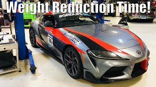 2020 Supra Weight Reduction + Axleback Exhaust at Touge Factory - Project TA90 #7.5