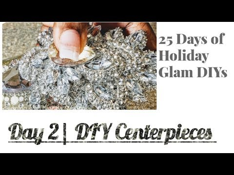 Day 2☃️| DIY Holiday Glamorous Centerpieces| Bling Candle Holders| 2018 Vlogmas