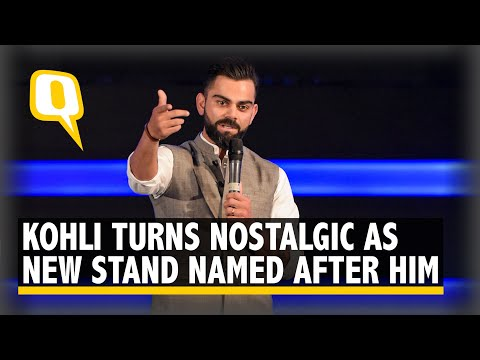 'Nervous' Virat Kohli Speaks After Stand at Arun Jaitley Stadium Named After Him | The Quint