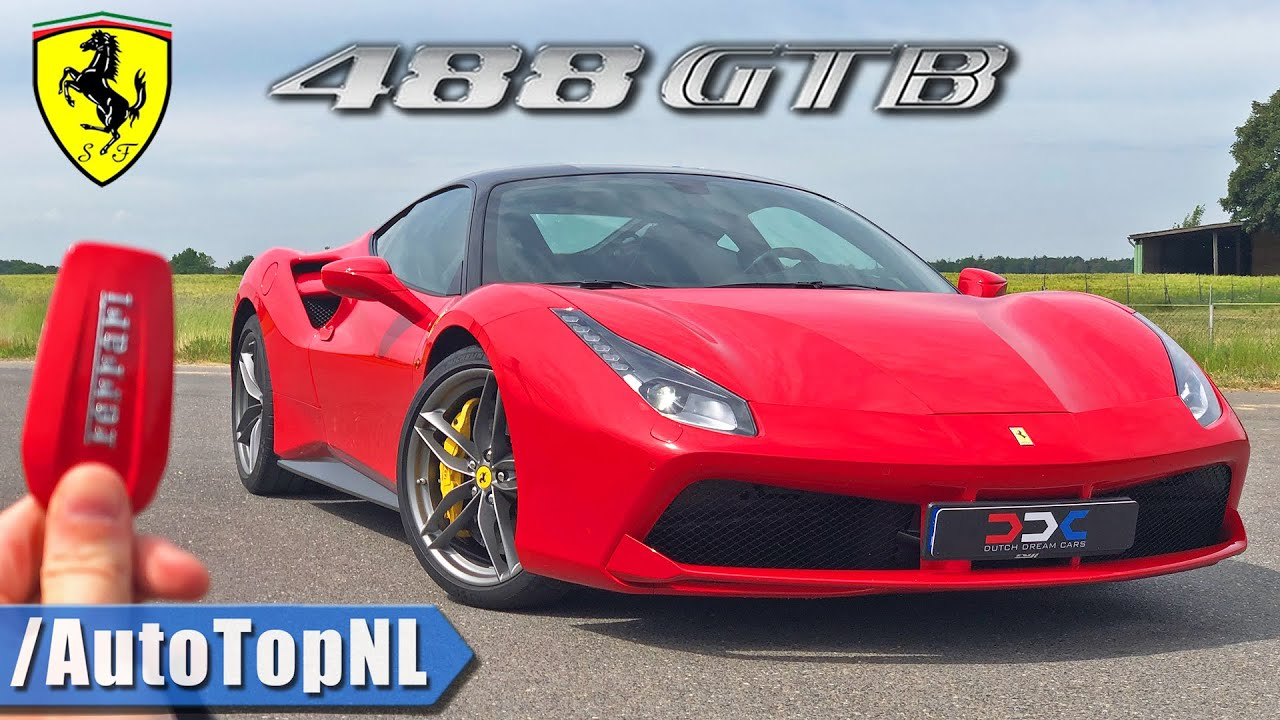Ferrari 488 Gtb Review 330km H On Autobahn No Speed Limit By Autotopnl Youtube