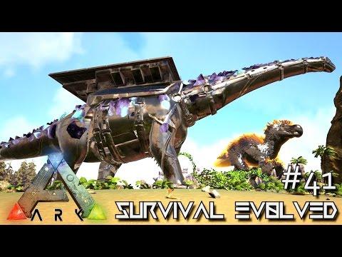 ARK: SURVIVAL EVOLVED - BIONIC GOD TITANOSAUR WRECKS FACE !!! E41 (MODDED ARK CENTER GAMEPLAY)
